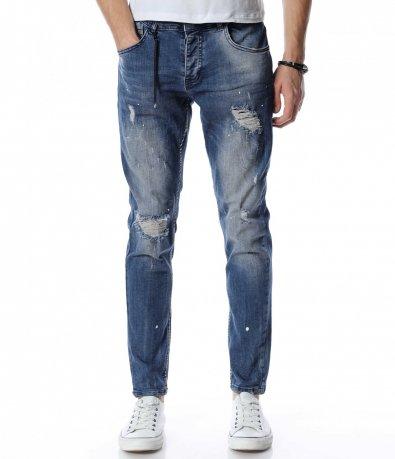 Skinny fit сини дънки 13187