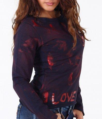 Дамска блуза с преливащи мотиви-3386