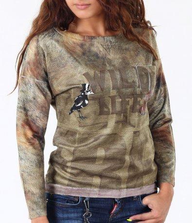 Дамска цветна блуза-3413