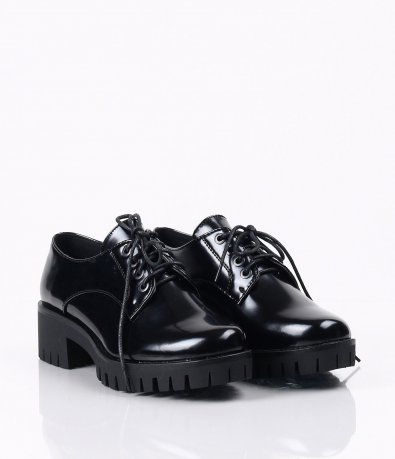 Стилни дамски обувки с нисък ток 3551