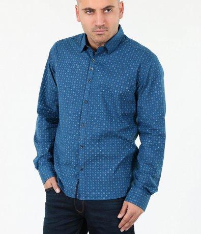 Мъжка стилна риза с орнаменти 4016