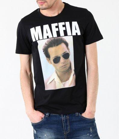 Мъжка стилна черна тениска 4176