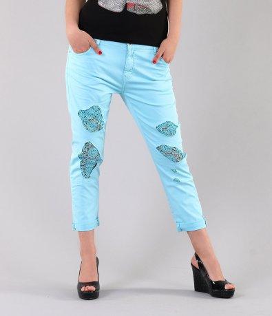Дамски син панталон 3024