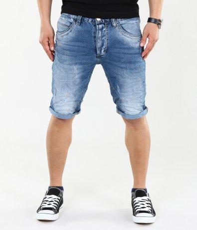 Мъжки модерни къси дънки 4421