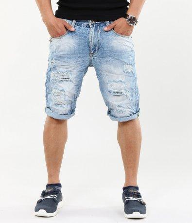 Мъжки нестандартни къси дънки 4608