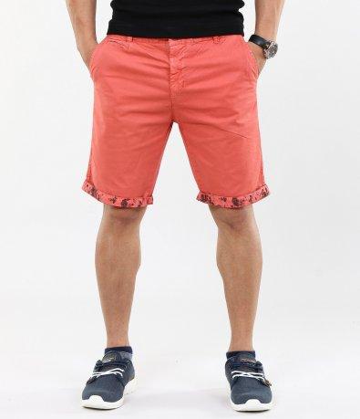 Мъжки къси панталони с цветен подгъв 4609