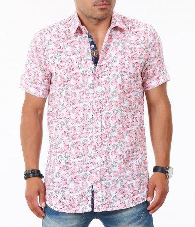 Мъжка свежа риза с къс ръкав 4832