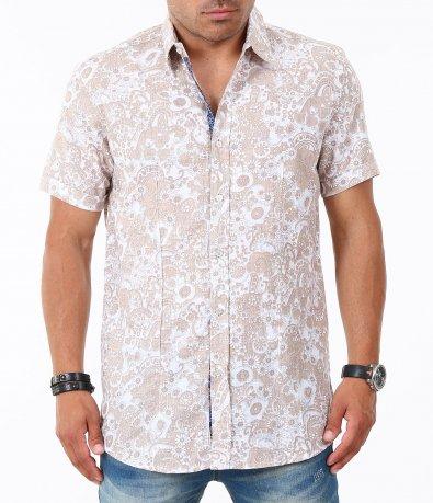 Мъжка лятна риза с къс ръкав 4836