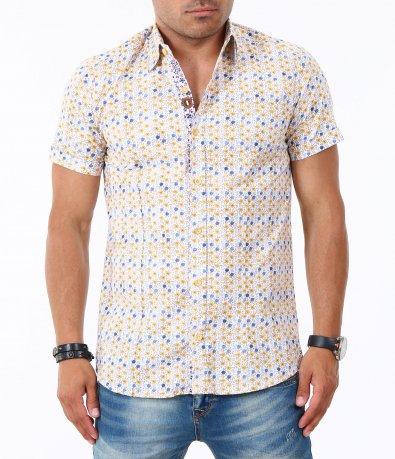 Мъжка риза с къс ръкав 4834