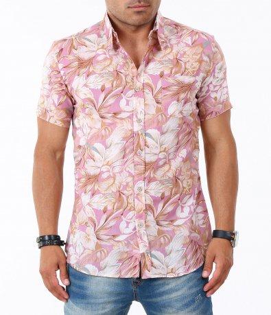 Мъжка риза с къс ръкав 4831