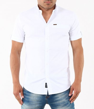 Мъжка клубна риза с къс ръкав 4874