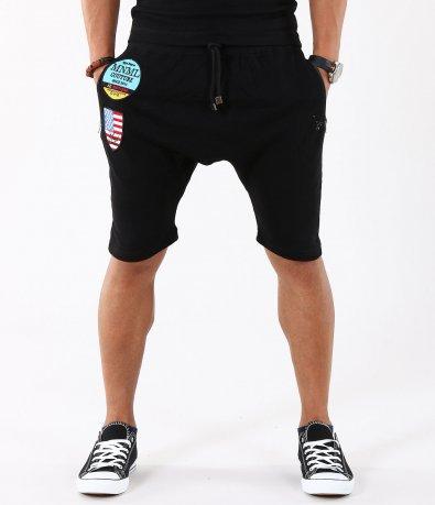 Мъжки черни спортни панталони тип потур 4936