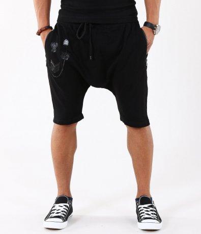 Мъжки черни къси панталони тип потур 4935