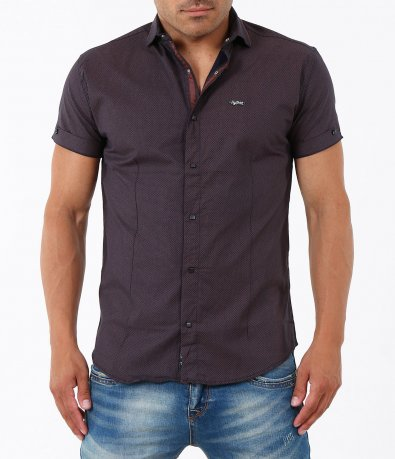 Мъжка елегантна риза с къс ръкав 4953