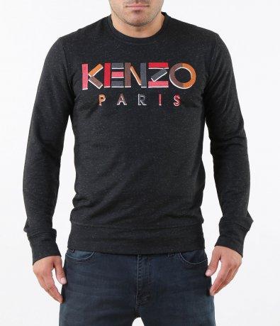 Класическа блуза с цветен надпис 5281