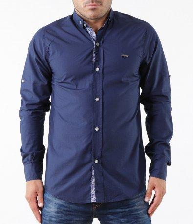 Атрактивна тъмно синя риза 5298