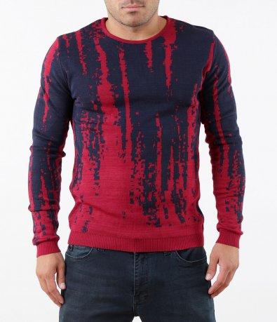 Есенен пуловер в преливащ нюанс 5286