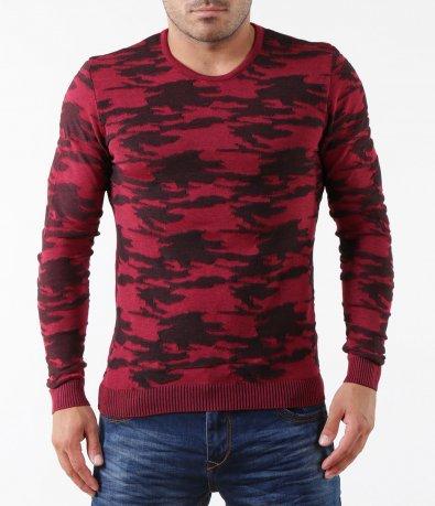 Стилен пуловер с шарки 5287