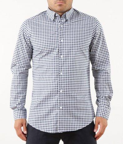 Спортна риза в ситно каре 5254