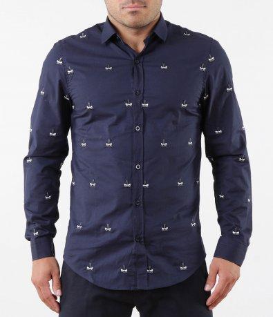 Ефектна риза с бродерия 5265