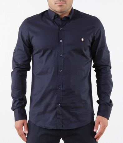 Елегантна синя риза 5266