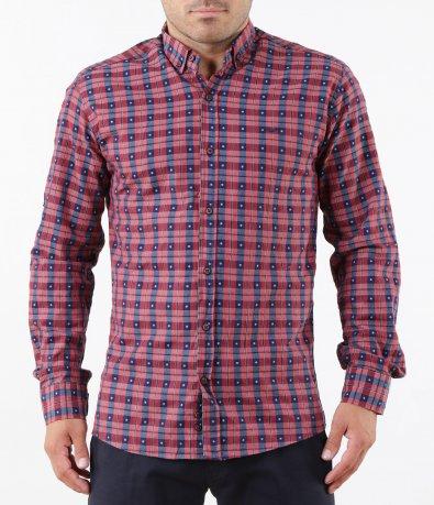 Спортна риза в ситно каре 5267