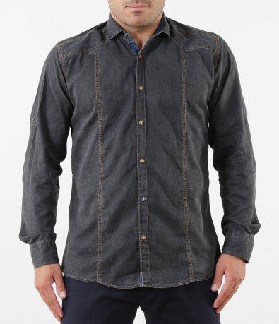 Спортна риза с дънков кант 5268