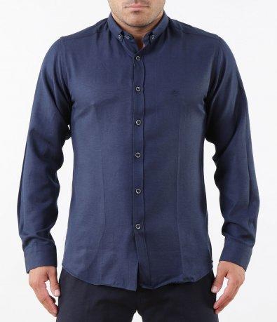 Класическа синя риза 5269