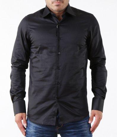 Елегантна черна риза 5308