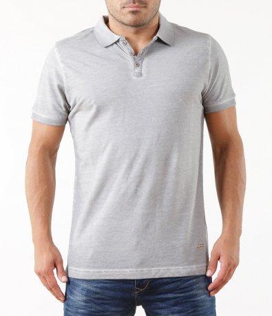 Сива тениска с яка 5315