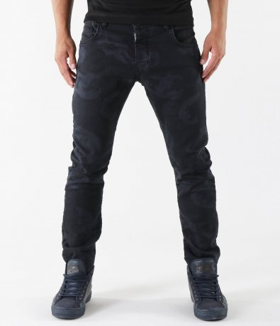 Черни камуфлажни дънки 5335