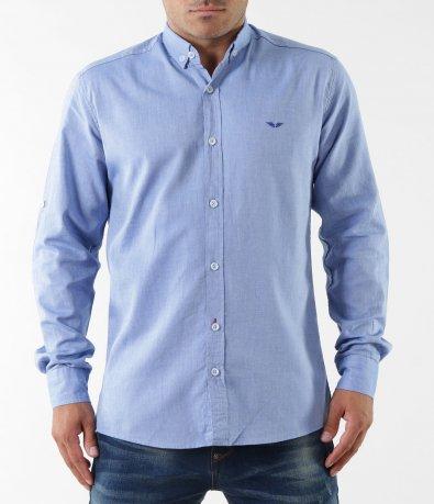 Изчистена риза с дълъг ръкав 5342