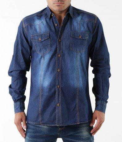 Спортно-елегантна риза с джобове 5344