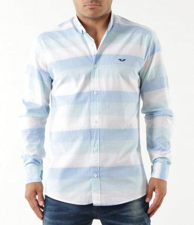 Свежа риза с раиран десен 5347