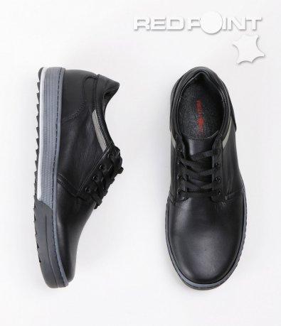 Спортно-елегантни черни обувки 5371