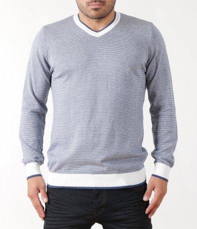 Син пуловер 5412
