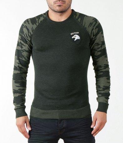 Камуфлажен пуловер 5395