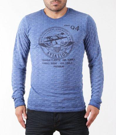 Светло синя блуза 5397