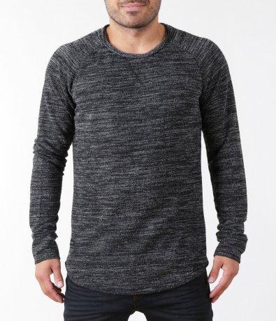 Ежедневен пуловер в черен цвят 5404
