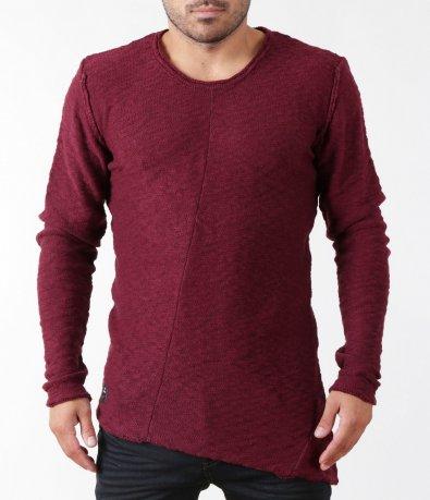 Плетен изчистен пуловер5405