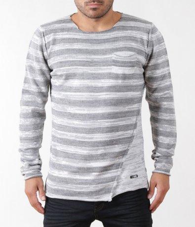 Готин сив пуловер 5411