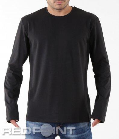 Класическа черна блуза 5537