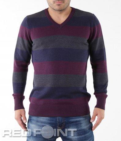 Ефектен пуловер на райе 5540