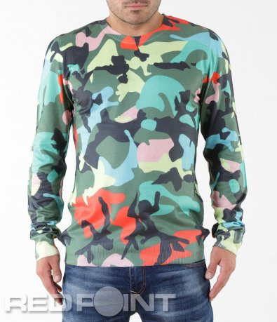 Ефектна шарена блуза 5560