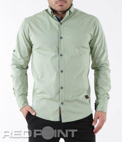 Интересна риза с дълъг ръкав 5352