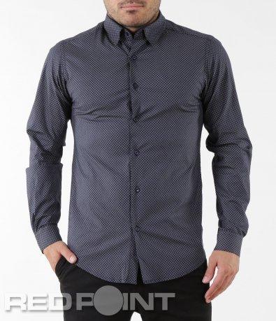 Тъмна риза с дълъг ръкав 5578
