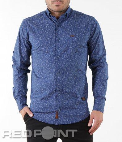 Стилна риза с флорален десен 5582