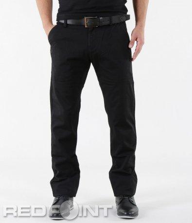 Класически черен панталон с колан 5609