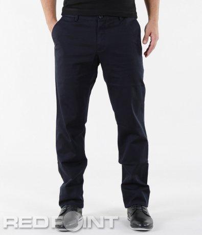 Тъмно син панталон с колан 5607