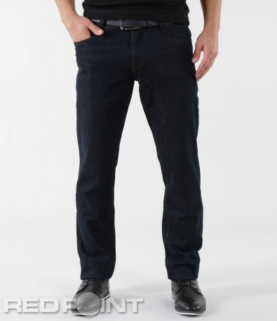 Черни дънки с права кройка и колан 5614
